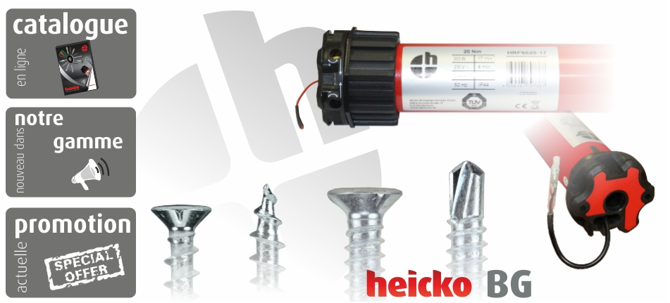 Willkommen bei heicko Schrauben GmbH - Schrauben und Fensterbau Zubehör