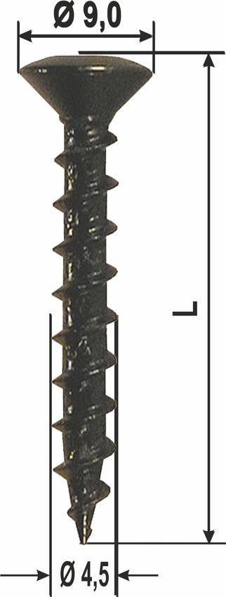 heicko schraubenvertriebs gmbh klappladenschraube schwarz verzinkt. Black Bedroom Furniture Sets. Home Design Ideas