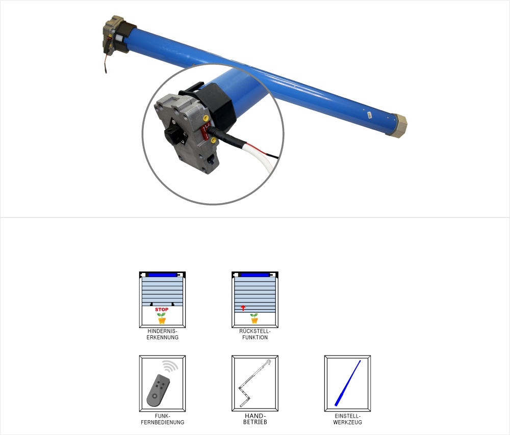 heicko Schraubenvertriebs GmbH | Awning tubular motor, mechanical